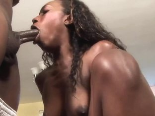 Ebony Babe Royce Rae Takes On Huge Monster Cock