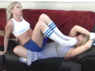 Busty MILF Mommy Gets Stinky Soccer Feet