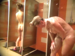 A Hidden Camera Filming Naked Women In The Shower Room