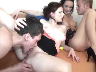 European Birthday Sex Orgy