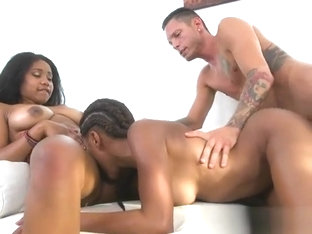 Ebony Sluts Get Plowed And Cum Sprayed By Delivery Guy