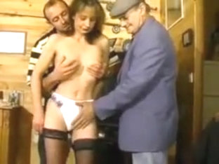 Stp7 Hairy Wife Gets Shared By Husband And Grandpa !