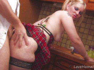 Blonde Schoolgirl With Pigtails Has Some Hard Anal
