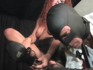Sabrina Fox Fries His Balls And Copulates His A-hole In Servitude