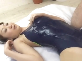 Japanese Gymnast Getting Her Ass Lubed Part2