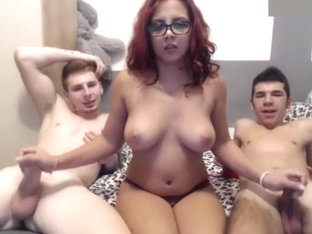 Skanky Cam Girl Has A Three Way