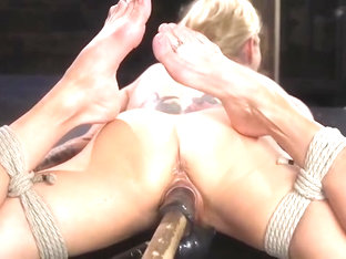 Blonde Athletic MILF Gets Bound And Tormented