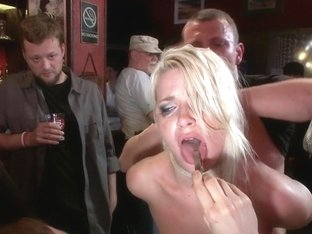 Smoking Hot Blonde Is Fucked In Public Bar