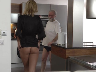 Old4k. New Morning Starts For Blonde And Her Old Spouse With Sex