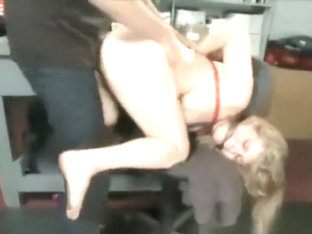 Mechanic Grabs Blond Bitch And Ties Her Up And Fucks Her Hard As Slave