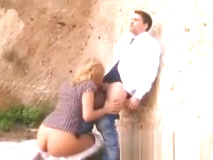 Spanish Beauty Getting Banged Outdoors In Public
