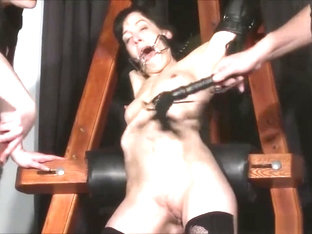 Enslaved Painslut Elise Graves Whipping In Hard BDSM Punishment Session