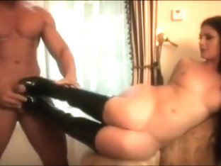 Bitch Gets Hammered And Cum Shot All Over Boots