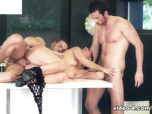 Office Boss Alexa Tomas Gets Dominated By Two Hard Cocks - Private
