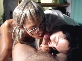 Double Blowjob And Swallow Cum