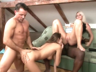 Silvie And Katkam In A Foursome Eat Pussy And Dick And Get Banged