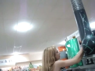 Blonde Milf Followed By An Upskirt Voyeur