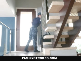Familystrokes - Horny Military Wife Fucked By Stepson