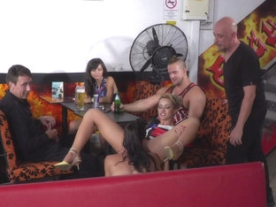 Steve Holmes,cherry Kiss,ram,dolly Diore,angel Rush In Dolly Diore's All Out Public Fuckfest  - Pu.
