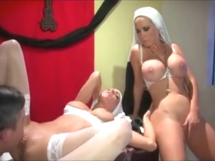 Nuns Fucking. Threesome