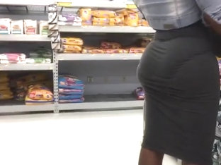 Huge African Booty Tight Skirt