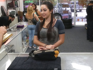 Brunette And Hot College Student Gets Hammered By Shawn The Shop Owner