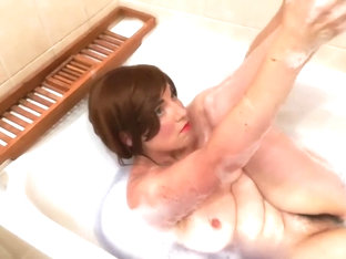 Wife Teases Hubby In The Bathtub