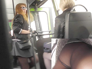 Real Candid Pantyhose Upskirt Movie In Public Transport