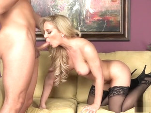 Voluptuous Blonde Cougar Feeds Her Hunger For Hard Meat And Hot Jizz