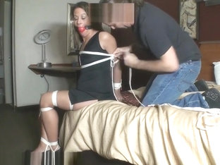 Hogtied And Ballgagged In A Hotel