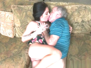 Filthy Old Man Hires Teen To Suck His Cock