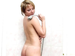 Gorgeous Blonde Olya Enjoys A Relaxing Shower And Makes Herself Cum