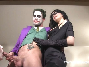 Jessica Jensen & Tina Kay In Cosplay Harley Quinn And Catwomen Ride The Joker - Cosplaybabes