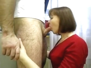 Shutting The Neighbour Up Shoving A Cock In Her Mouth