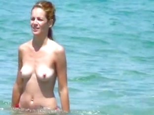 Incredible Blond Topless And Pussy Ibiza Beach