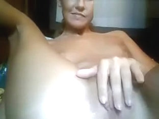 Girl Rubbing Her Pussy Up Close