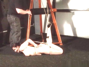 American Damsel Caroline Pierce In Hogtied Bondage And Restrained Dominatio