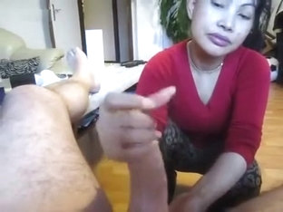 Our Sexy Asian Maid Cheats With Me And Jerks Me Off While My Wife's Not Home
